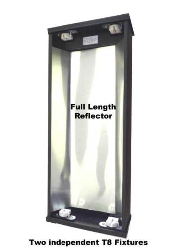 REPTILE LIGHT DOUBLE T8 FLOURESCENT LAMP HOOD 24 INCH FREE SHIPPING!