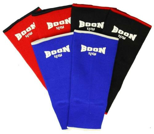 BOON ANKLE GUARD  SUPPORTS ABK RED BLACK BLUE  PROTECTOR MUAY THAI BOXING MMA K1