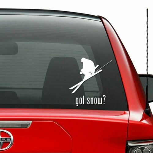 Got Snow Skiing Skis Vinyl Decal Sticker Car Truck Vehicle Bumpe