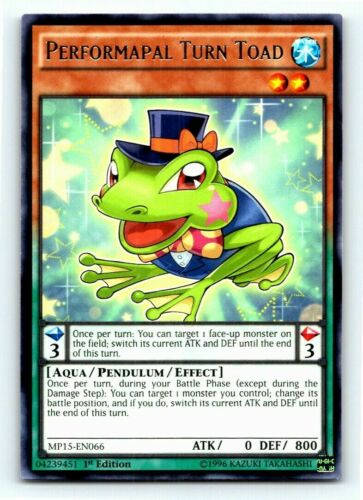 Rare YUGIOH Card Mint Performapal Turn Toad Near Mint Condition
