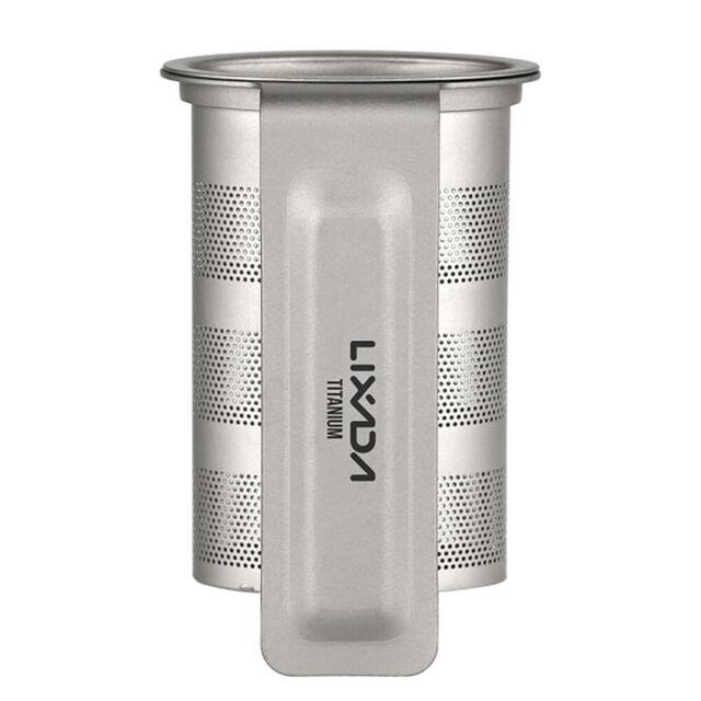 Lixada Titanium Mesh Tea Infuser Basket Camping Tea Cup Brewing Filter w/Handle