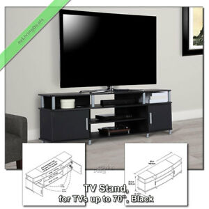 70 Inch Tv Stand Console Table Carson Wood Media Stands For Flat