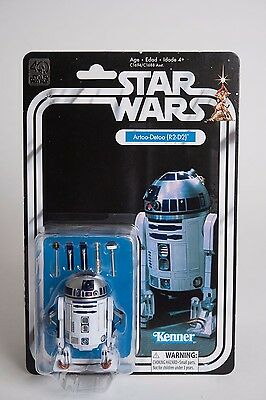 "HASBRO STAR WARS THE BLACK SERIES 40th ANNIVERSARY R2-D2 ARTOO-DETOO 6"" IN-HAND"
