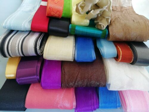 Crafting Mix Clearout Sale HUGE Lot Up To 50m Ribbon Bundle 20 Bundle