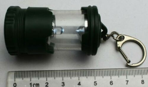 Key Chain Lantern 1 LED Pocket Torch Lamp Handbag Purse Glovebox Emergency Kids