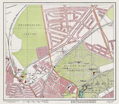 Old Walton on the Hill Sheet 2 Liverpool 1928 Series Large Map Reprint