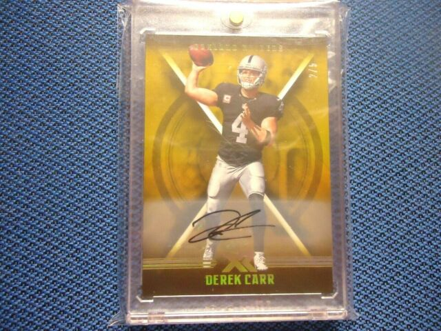 2017 PANINI XR DEREK CARR OAKLAND RAIDERS AUTO VERY RARE 2/5 MINT