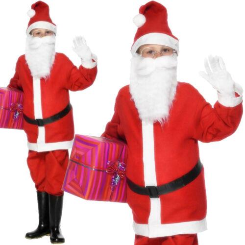 Garçons Père Noël Costume Père Noël Déguisement Enfants Noël Festif Costume