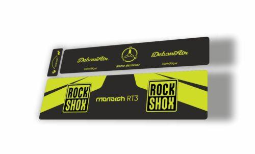 Rock Shox 2016 MONARCH Plus RT3 Rear Shock MTB Decal Sticker Adhesive Lime Green