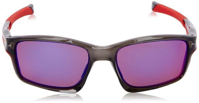4f9be13363be New Oakley Polarized ChainLink OO9247-10 Gray Smoke Frame Red Iridium  Sunglasses