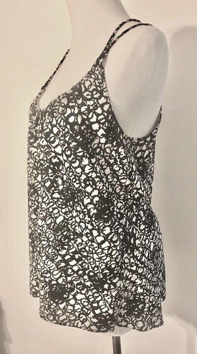 Balenciaga Black and White Silk Multi Strap Camis… - image 10