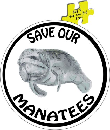 Florida Save Our Manatees Decal Sticker #355