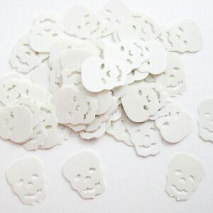 SEQUINS CONFETTIS DE TABLE HALLOWEEN FANTOME BLANC PVC15mm LOT DE 400