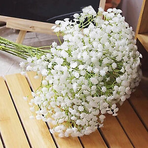 Artificial babys breath gypsophila silk flower bouquet home wedding image is loading artificial baby 039 s breath gypsophila silk flower mightylinksfo