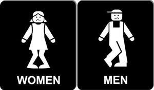 Funny bathroom sign 8 1//2 X 10 RESTROOM SIGN Aluminum men women I have to go