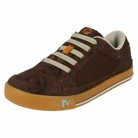 Merrell Boys Brown Leather Trainers - Skyjumper Brash J95511 Cc