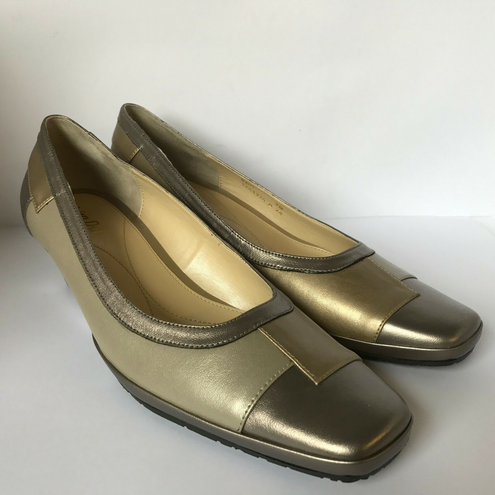Van Dal Haiti Wedge shoes Metal-Oyster-gold Size 7 UK D Width New