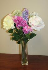 Floral Arrangement, Artificial Flowers, Home Decor, silk flowers, roses, lilac