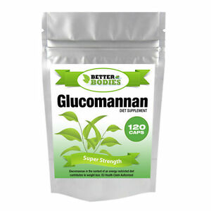 120-GLUCOMANNANO-MAX-fibra-Konjac-dieta-integratore-Perdita-Di-Peso-Dieta-Forti-Pillole