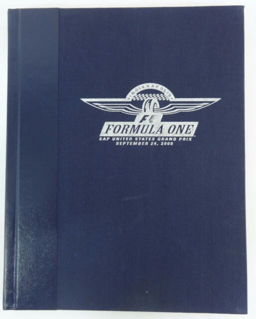 2000 Formula-1 Indianapolis USGP Inaugural Program Hardbound Limited Edition