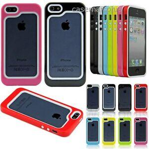 For iPhone 5 5S S Heavy Duty Bumper Frame Case skin ...Iphone 5s Rubber Bumper