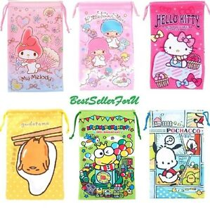 Sanrio Cleaning Storage Pouch iPhone 8 Makeup Pencil Pen Coin Drawstring Bag