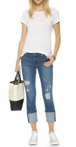 Hudson-Womens-Muse-Crop-Skinny-Jeans-Distressed-Denim-Hustle-5-034-Cuff-Size-24-NWT