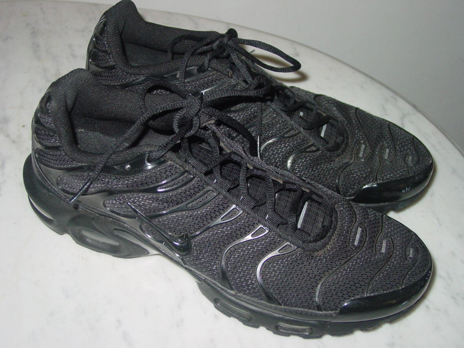 2014 Nike Air Max TN 1 Tuned Air Triple Black Running Shoes Size 10.5