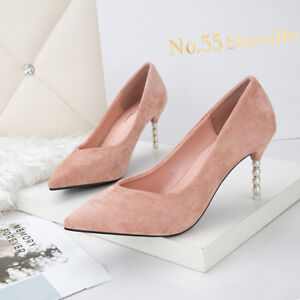 Decolte Pelle Stiletto Rosa 10 Cm Scamosciate 9666 Gioiello Eleganti Simil rwrxa8ZB