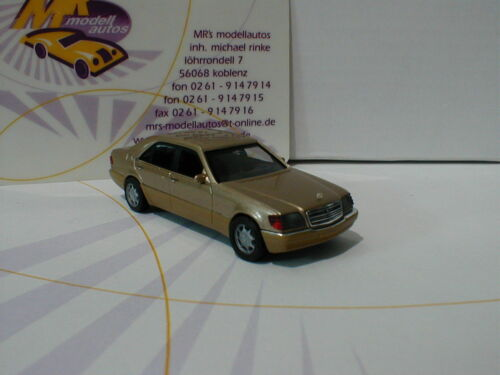 Herpa 038775 # Mercedes-Benz S-Klasse V12 W140 Baujahr 1991 braun met 1:87