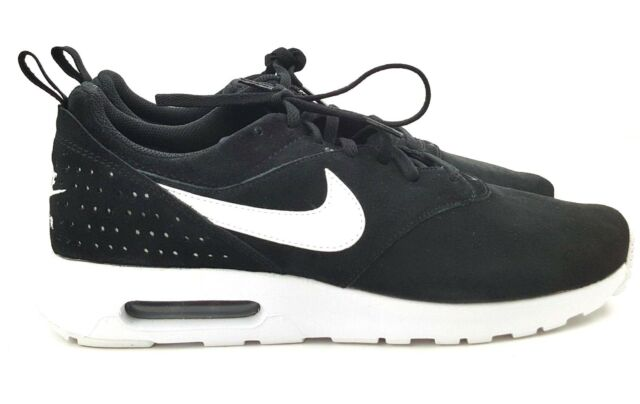 check out 67541 b075e NEW Nike Air Max Tavas LTR Men s Black White Suede Sneakers Size 10.5, 11
