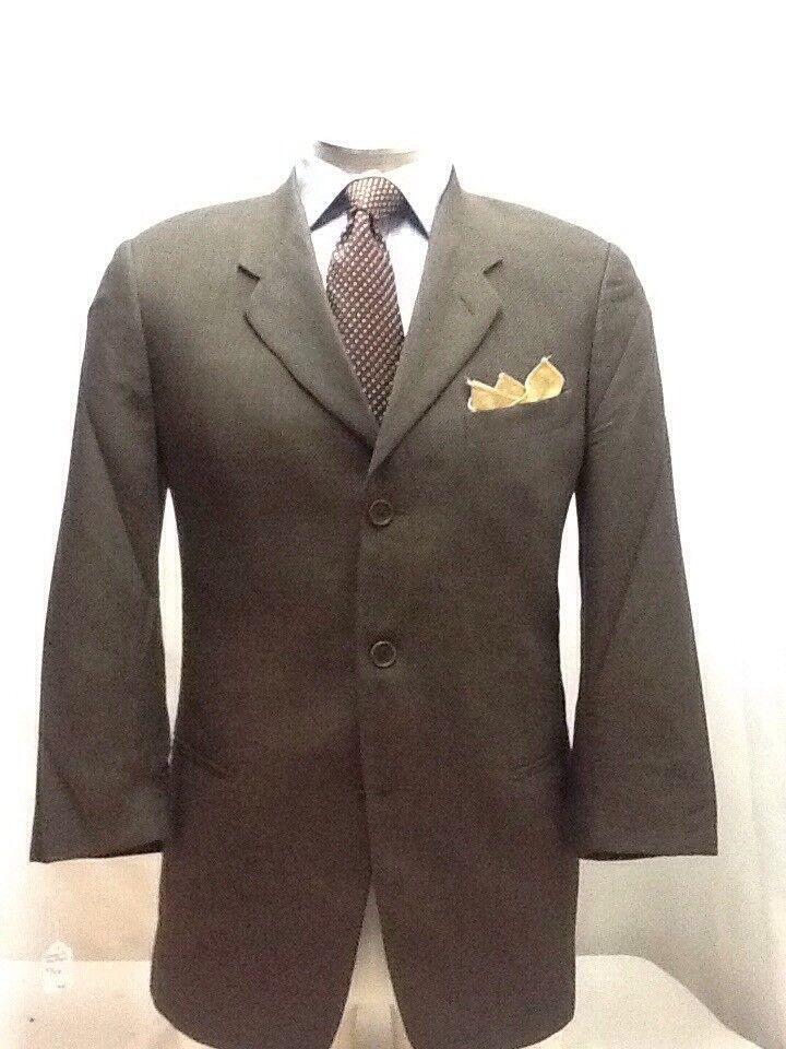 Herren GIORGIO ARMANI Braun 3 button nailhead suit sz 40R