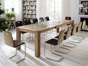 Das Bild Wird Geladen Esstisch Tisch Esszimmertisch Esszimmer Auszug Eiche  Massiv Geoelt