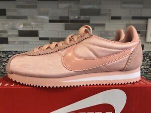 best service e2256 ec1ef Image is loading Nike-Classic-Cortez-Nylon-Womens-749864-606-Coral-