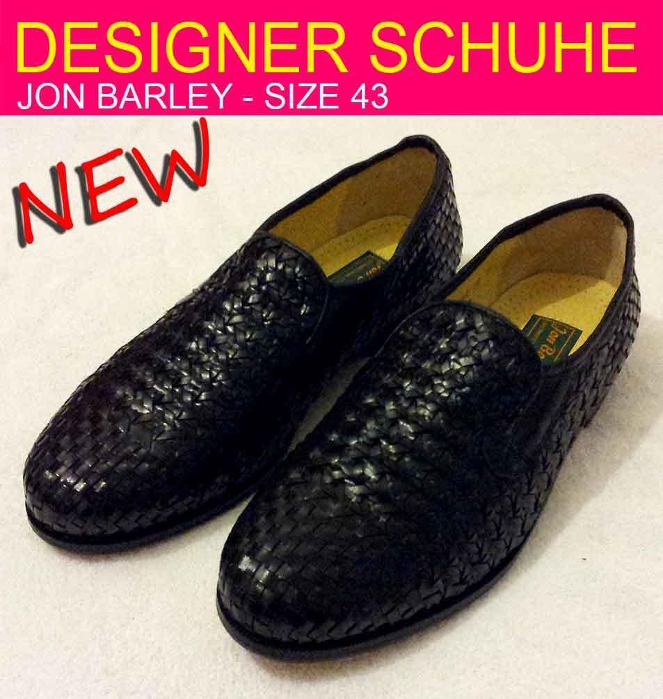 Jon Barley - Designer Schuhe - Echt Leder - Grosse 43 - NEU