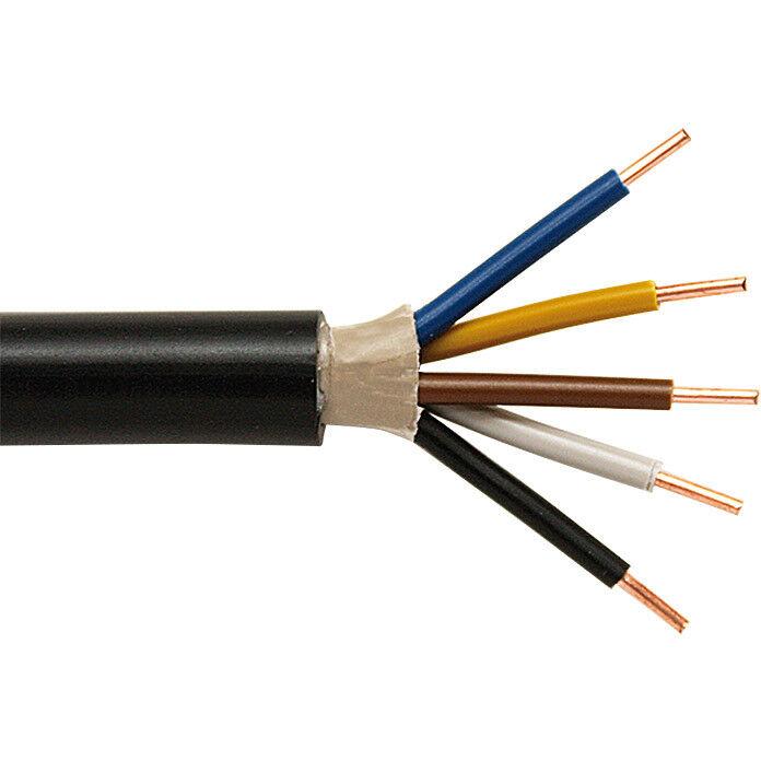Erdkabel Erdleitung NYY-J 5x1,5mm², schwarz, Menge wählbar  | Sale Outlet
