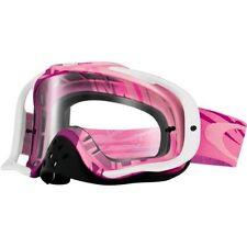 Maschera Oakley Crowbar Mx Razorwire Pink Rose Clear oo7025-26 Cross Enduro