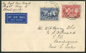 Australian-Aerophilately-14-Sept-1936-AAMC-627-Hay-Deniliquin-flown-cover
