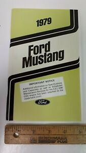 1979-Ford-MUSTANG-Original-Owners-Manual-Guide-Excellent-NOS-Condition-US