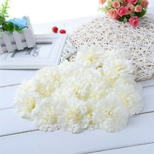 20pcs Artificial Silk Carnations Flower Head For Home Wedding Party Craft Decor
