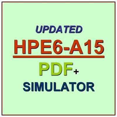 HP Aruba Certified Clearpass Professional v6.5 HPE6-A15 Exam Q/&A PDF+SIM