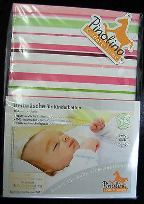 Suche Nach FlüGen Pinolino Bettwäsche 135 X100 Bettwäschegarnituren 40x60cm Streifen Gestreift Ökotex100 Ba-48 Mangelware