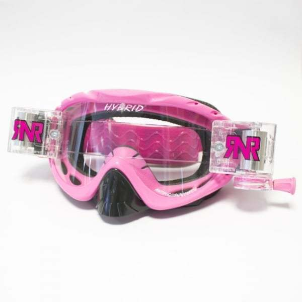 Rip N Roll Hybrid Motocross MX  Moto-X Enduro Roll Off Goggles - Pink  we take customers as our god