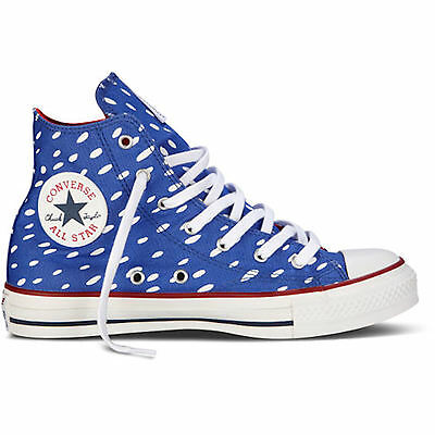 CONVERSE ALL STARS MARIMEKKO TRAINER BOOT CT HI BLUE/WHITE NEW AND BOXED