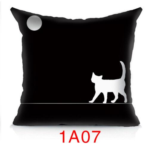 """14/"""" 16/"""" 18/"""" 20/"""" Cute Cat Printed Pillow Case Sofa Throw Cushion Cover Home Decor"""