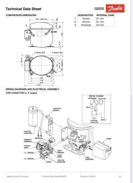 danfoss compressor model  ml90fr 120v 404a replaces mcc177 afe14c5e  ase28c5e