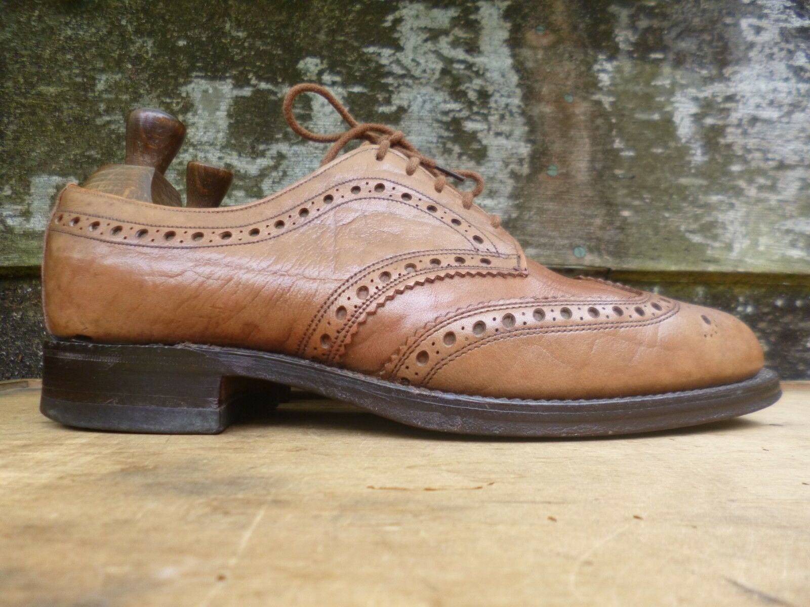 CHEANEY / CHURCH VINTAGE BROGUES - – BROWN / TAN - BROGUES UK 8 – ANTLER -EXCELLENT COND 9a953f