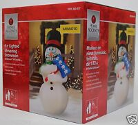 Christmas 6 Ft Lighted Animated Shivering Snowman Airblown Inflatable