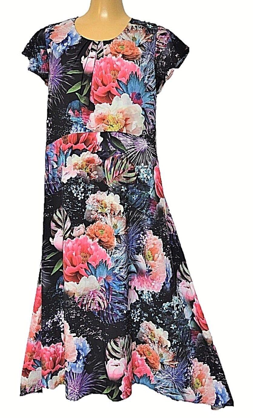 TS dress TAKING SHAPE plus sz S - M   18 Fireworks Floral Dress silky NWT rp