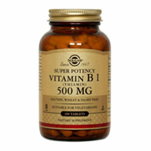 Vitamin B1 (Thiamin) 100 Tabs 500 mg by Solgar